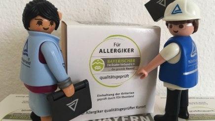 """Mit """"Einhaltung der Kriterien geprüft durch TÜV Rheinland"""" dürfen demnächst auch Bad Hindelanger Betriebe für sich werben."""