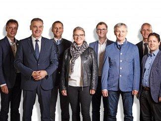 Geschäftsführer Thomas Jahn (3. von links) mit den Vorstandsmitgliedern des Bayerischen Heilbäder-Verbandes e.V., © Maximilian Fend/BHV