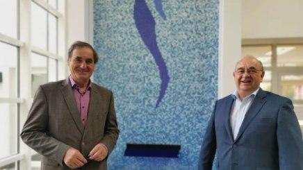 Der kommissarische BHV-Vorsitzende Alois Brundobler (links) und BHV-Geschäftsführer Rudolf Weinberger, © Bayerischer Heilbäder-Verband