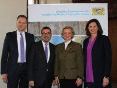 Teilnehmer an der Jahrespressekonferenz Tourismus: Jens Huwald, Klaus Holetschek, Angela Inselkammer und Staatsministerin Ilse Aigner, © Rosi Raab