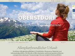 Webseite Allergikerfreundliche Kommune Oberstdorf