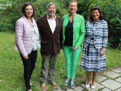 Gemeinsame Sitzung zur Auswertung der Studie (v.l.): Ilona Taylor (bpa), Dr. Christian Alex (BHV), Gabriella Squarra (Kurdirektorin Bad Reichenhall) und Prof. Dr. Dr. Angela Schuh (LMU München), © Rosi Raab