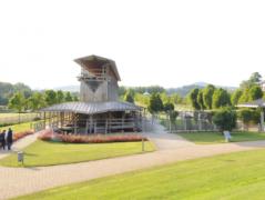 Das allergikerfreundliche Bad Staffelstein punktet mit Gradierwerken im Kurpark., © Kur & Tourismus Service Bad Staffelstein