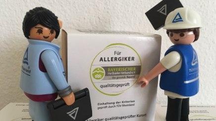TÜV-Auditoren begehen für Allergiker qualitätsgeprüfte Kurorte im gesunden Bayern, © Bayerischer Heilbäder-Verband
