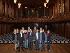Die Vorstandsmitglieder im Max-Littmann-Saal in Bad Kissingen, © Bayerischer Heilbäder-Verband e.V.
