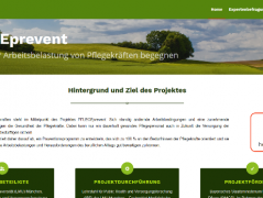 Die Internetseite www.pflegeprevent.de enthält allgemeine Informationen zum Projekt, aber auch einen Online-Fragebogen, © Bayerischer Heilbäder-Verband e.V.
